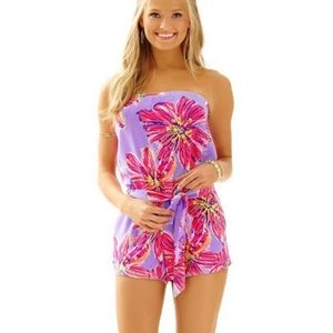 Lilly Pulitzer Party Girl Dahlia Strapless Romper